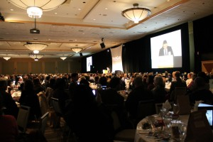 Mark Bennett shares his story with 1,100 attendees at YouthCare's 40th annual luncheon at the Westin in downtown Seattle.