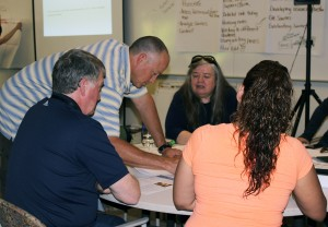Educators engage in professional development activities aimed to improve their curriculum for GEAR UP students.