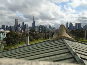 The view from the top of the Shrine of Remembrance