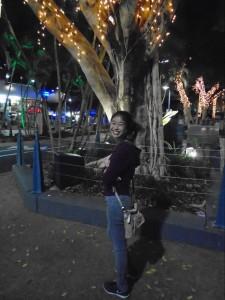Jessica Trinh walking around downtown Gold Coast