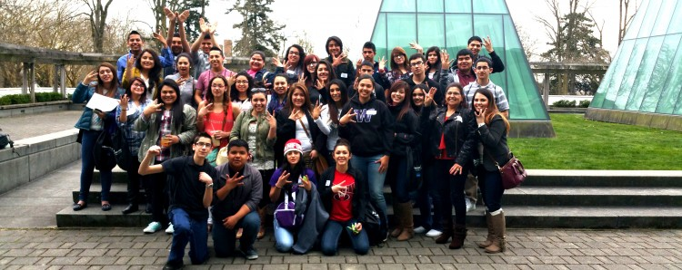 Students from Granger, Toppenish, White Swan and Wapato High Schools visit the UW Law Academy in March 2015.