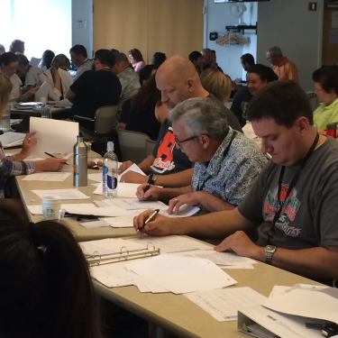 Educators carefully review the applications to make their admissions selection.