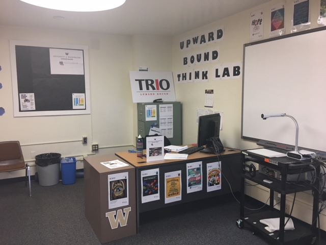 The Upward Bound Think Lab in the KM Library