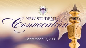 Text graphic: 2018 New Student Convocation
