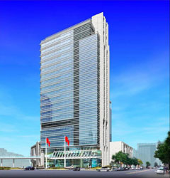 Image of Metropolis Tower, where the UW Beijing Center is located