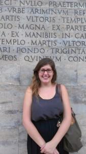 Theresa at the Ara Pacis Museum