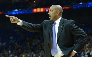 Coach Romar gives instructions