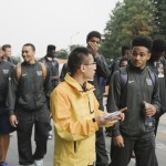 The Washington Husky Men's Basketball team and NBA legend Bill Walton tour the headquarters of Alibaba