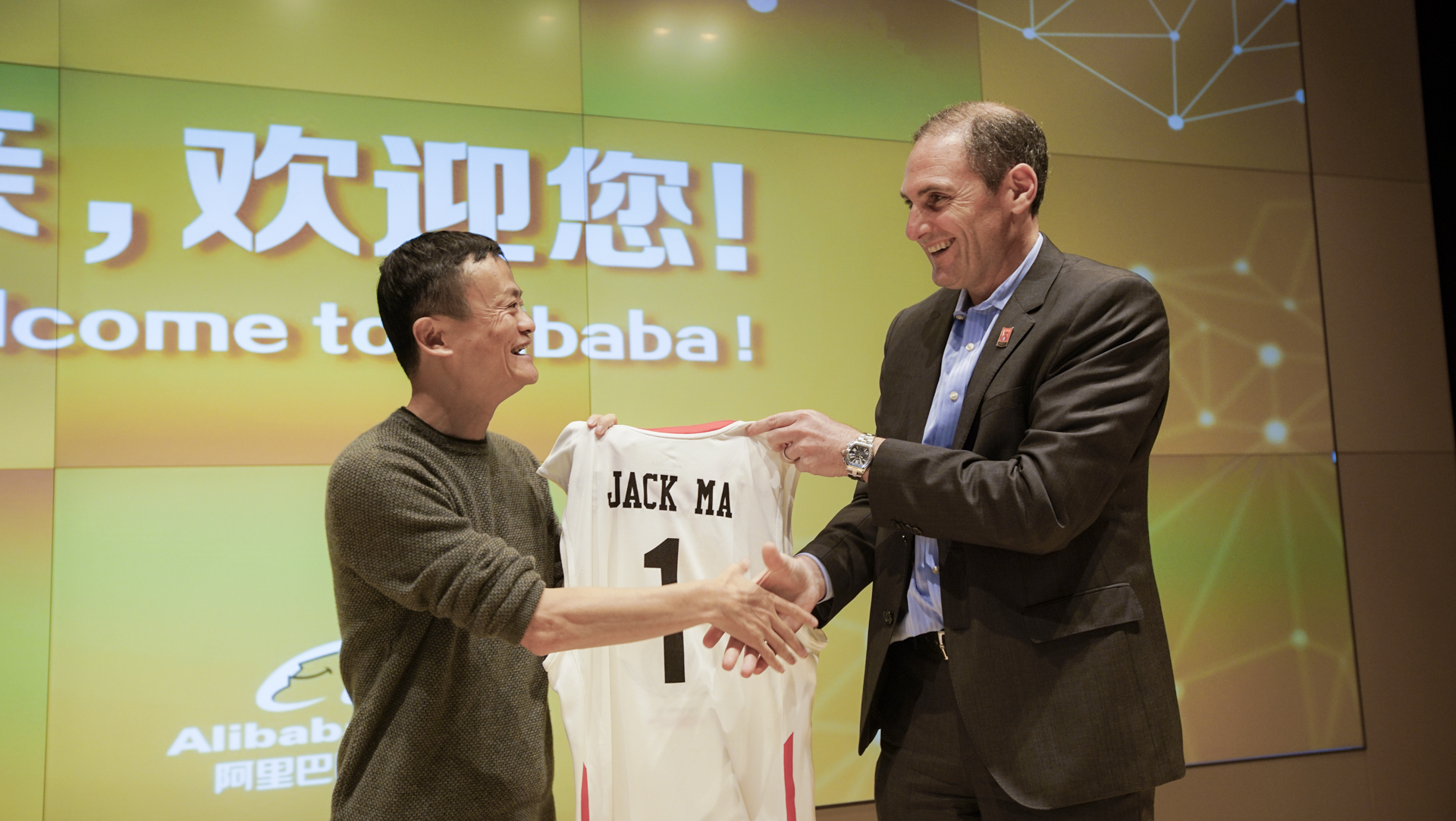 Jack Ma and Pac-12 Commissioner Larry Scott