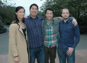 Picture of Christina Chan, Jason Tan, Allen Chen, and Lukas Svec