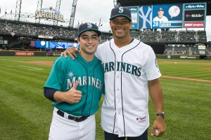 Oscar Castro Jr with Russell Wilson