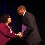 Picture of Dean Taylor thanking Justice Sotomayor