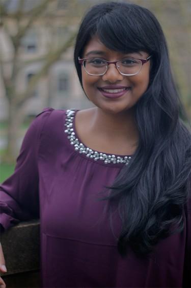 Portrait of Varsha Govindaraju, 2015-16 Luce Scholar