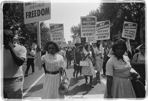 Photo of women marching in March on Washington