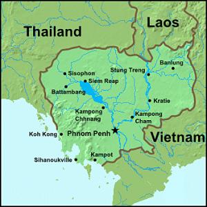 Map of Cambodia.