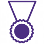Icon of an award medal