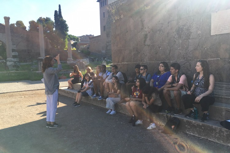 Touring the Roman Forum.