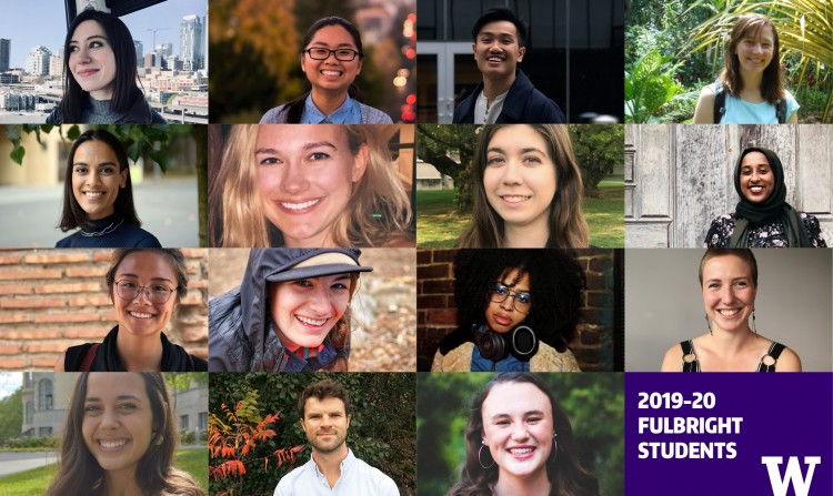 Collage of Fulbright students