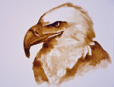Drawing of an eagle.