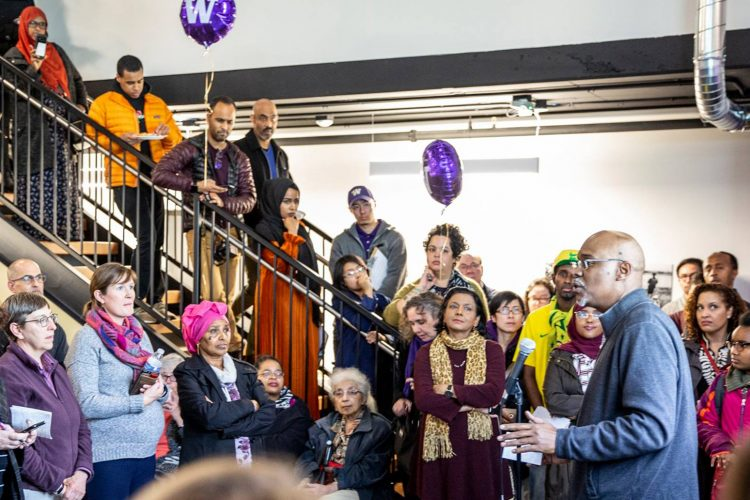Photo of grand opening at Othello-UW Commons