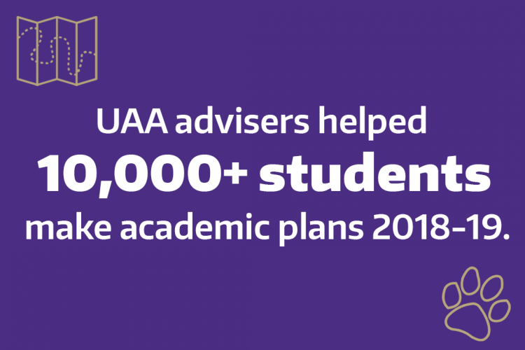 Data: UAA advisers helped 10,000+ students make academic plans in 2018-19.