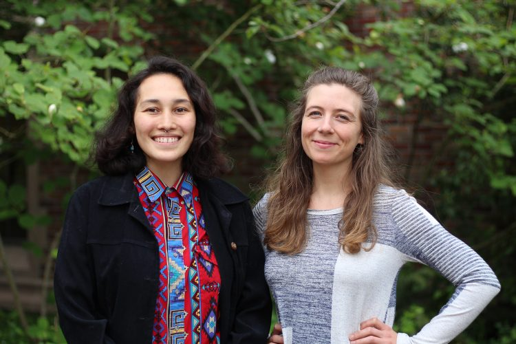 Photo of Udall Scholars Cece Hoffman and Helen Ganahl