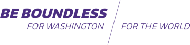 Be Boundless For Washington, For the World tagline