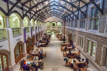 Photo of Mary Gates Hall commons