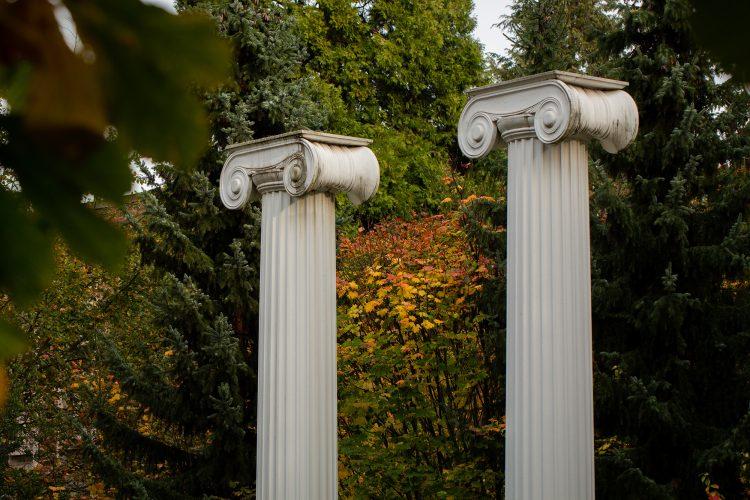 Photo of columns in Sylvan Grove