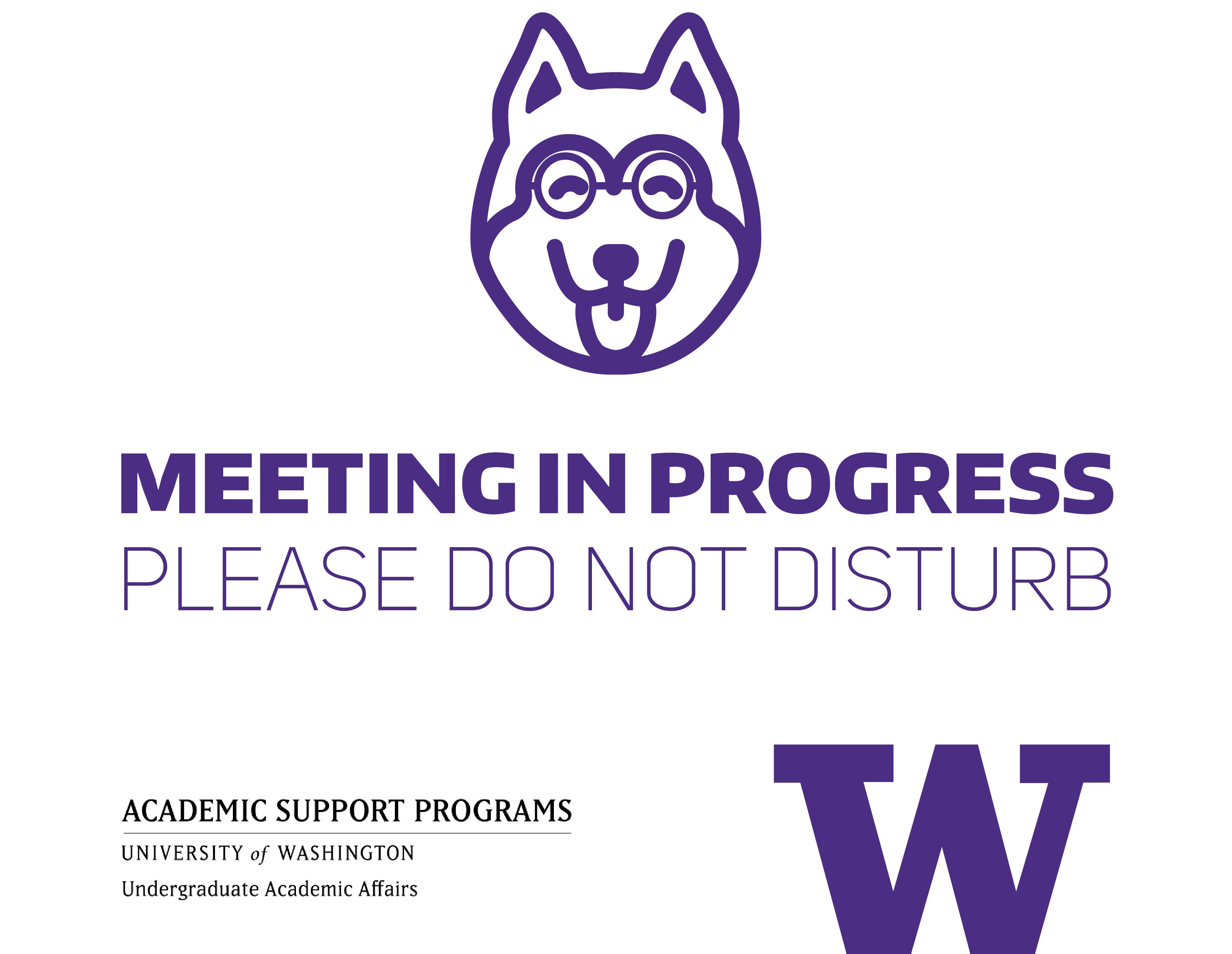 Meeting in progress - do not disturb