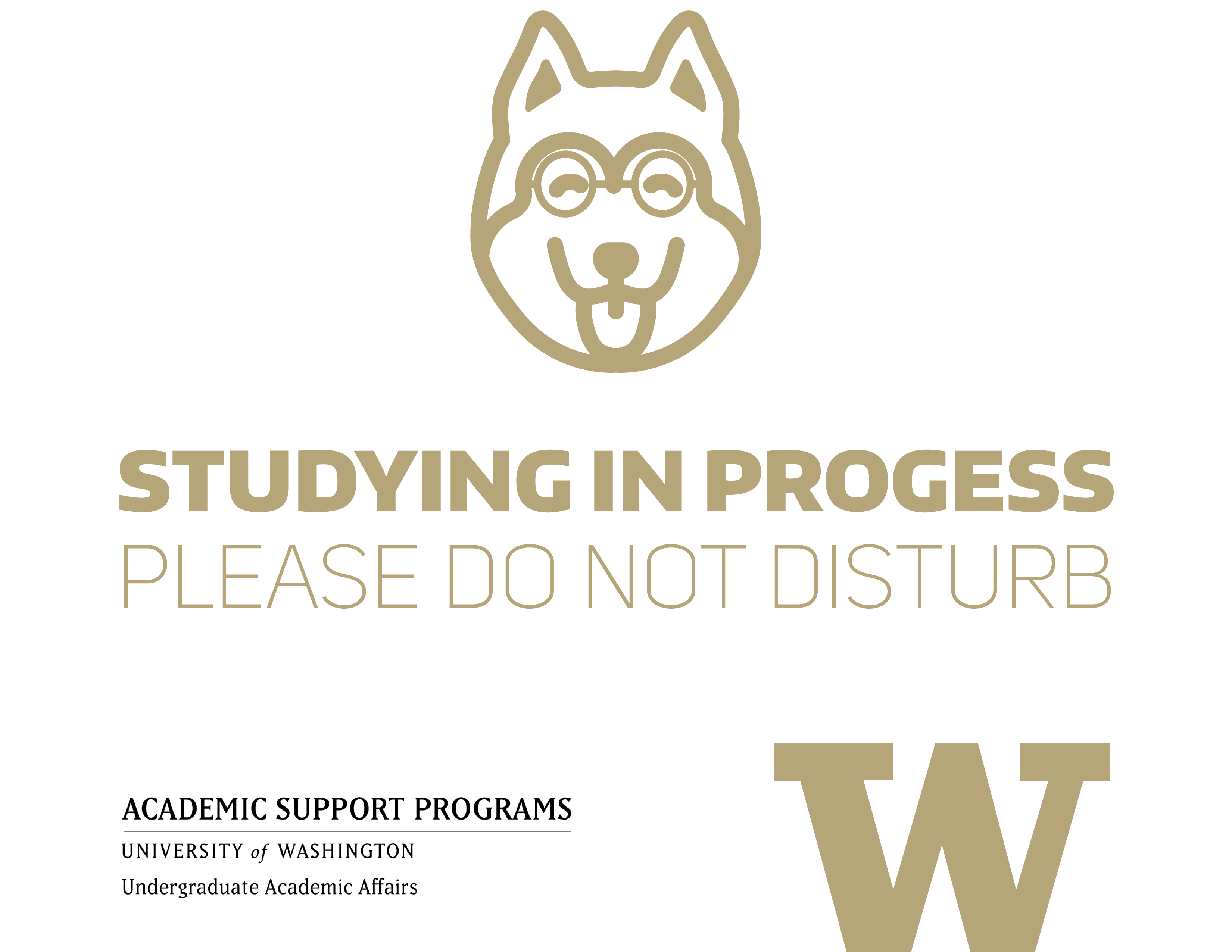Studying in progress - gold