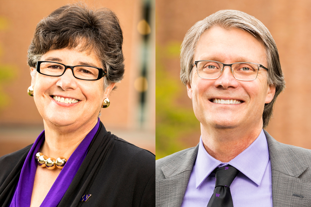 Photo of President Cauce and Provost Richards