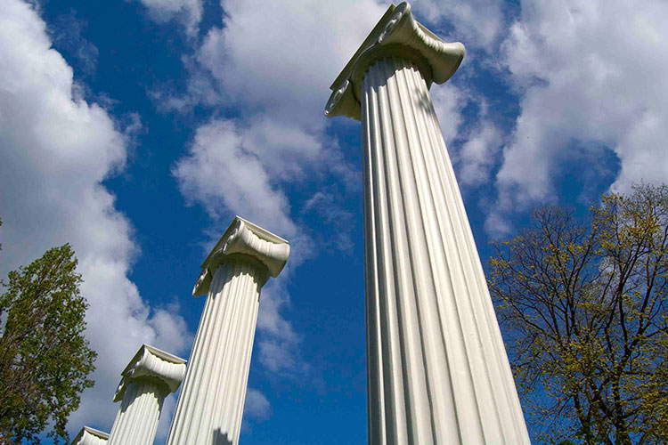 Columns in Sylvan Grove.