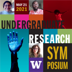 Square graphic for the Undergraduate Research Symposium on May 21.
