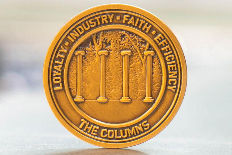 Coin with UW columns