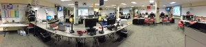 Panaromic photograph of the EOC main operations Floor