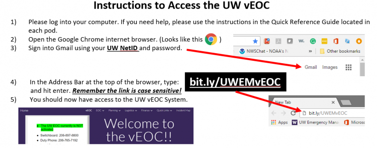 vEOC access instructions image