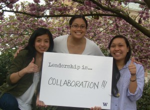 Ruby, Elaine, and Angel. Leadership is Collaboration