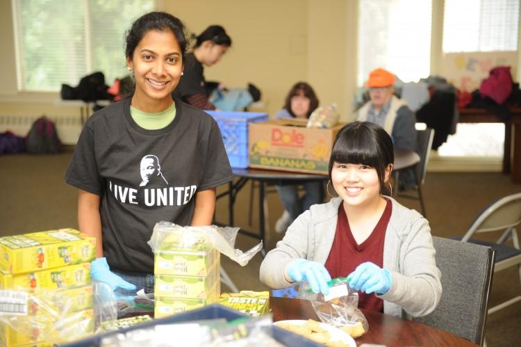 MLK Day 2015 Food volunteers