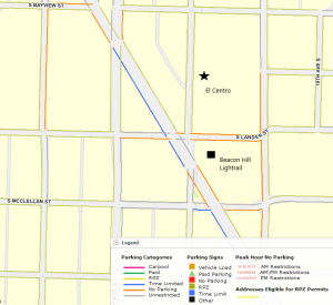 el centro parking map