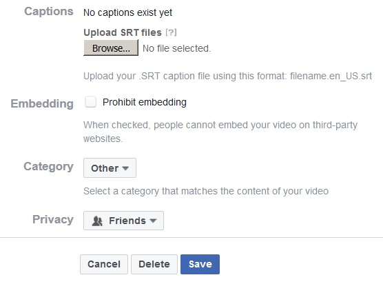 Adding Captions to Facebook Videos   Accessible Technology