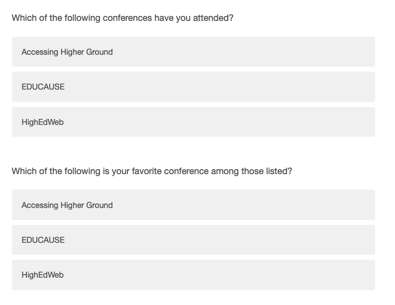 Fieldsets with radio buttons and checkboxes look exactly the same in Qualtrics