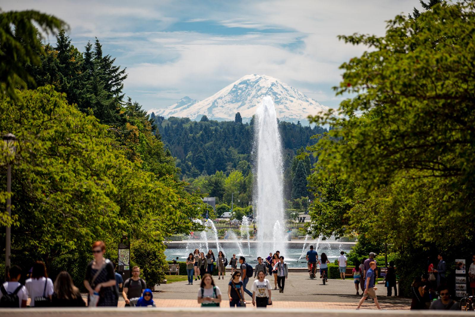 UW Campus on Graduation Day in June,