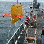 Once launched, the Woods Hole Oceanographic Institution's Sentry operates without being tethered to the ship. It is preprogrammed for the areas it is to map but can operate independently to navigate around cliffs, basins and other terrain it encounters.