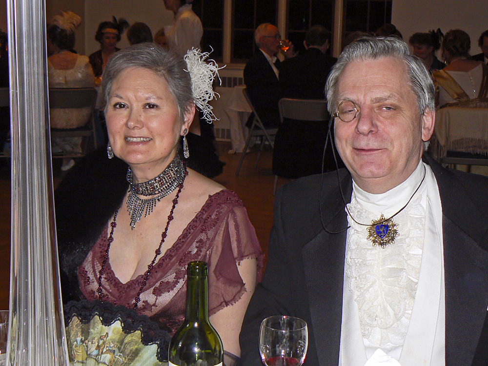 Loveday Conquest and her husband, Fred Kleinschmidt, enjoy a 'Titanic Survivors Ball.'