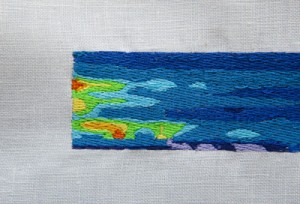 Carrie Bodle's embroidery work