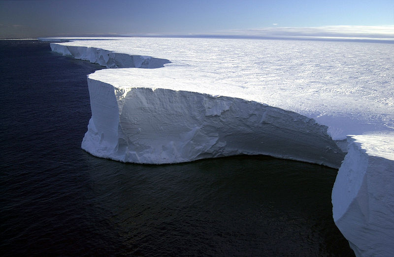 Iceberg B-15A was 76 miles long and 17 miles wide. Credit required: National Science Foundation