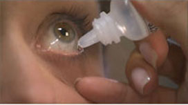 Preservative-free eye drops soothe mild cases of dry eye.