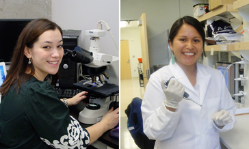 SACNAS members Amanda Bruner, left, and Katrina Claw.