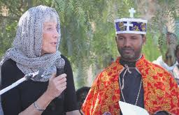 Nancy Andrews (left) works with clerics in Ethiopia to get people tested and treated for HIV.